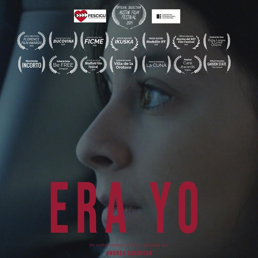 Poster oficial del cortometraje era yo de Andrea Casaseca