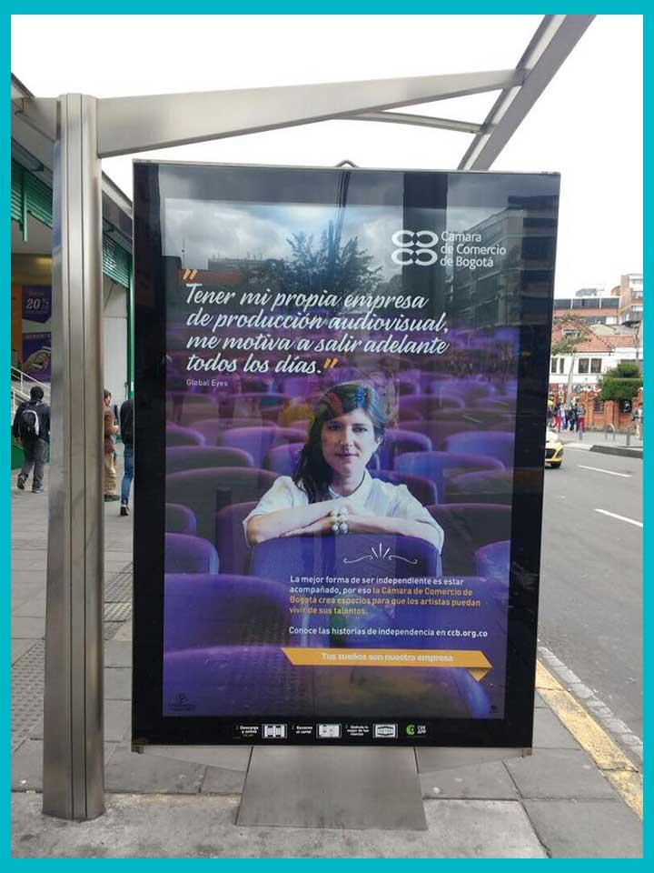Campaña publicitaria de la Cámara de Comercio de Bogotá, Colombia