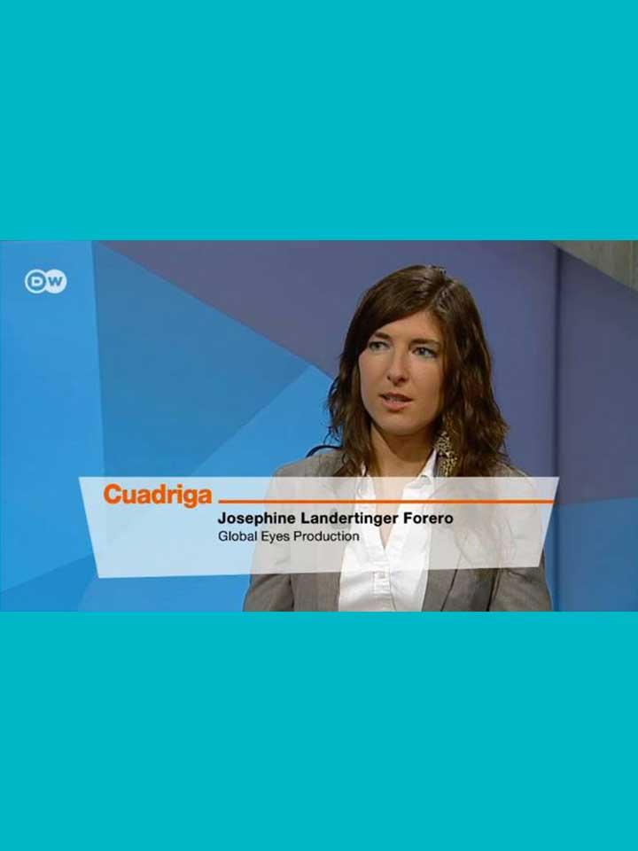 Invitada en Cuadriga de Deutsche Welle TV, Alemania