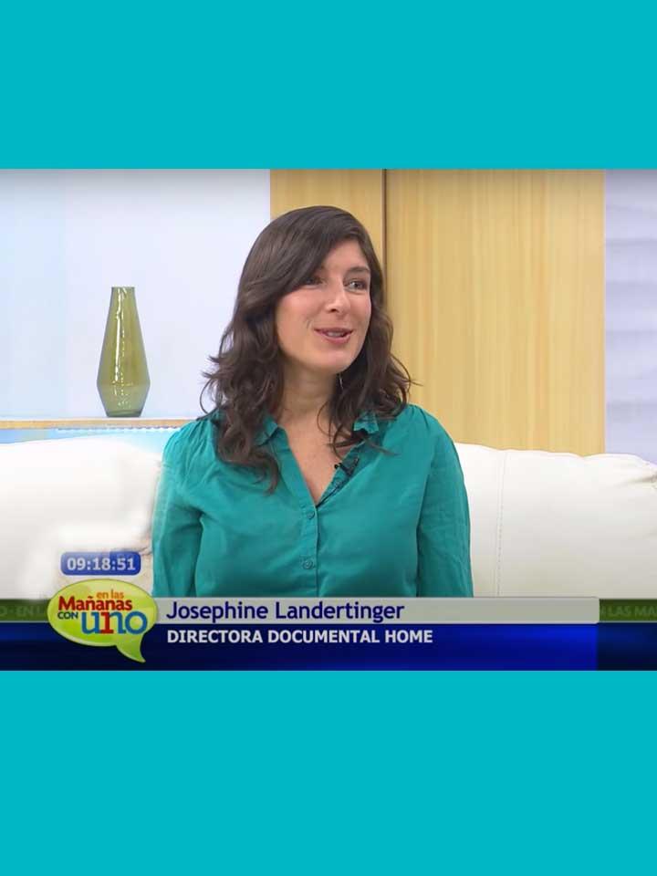 Invitada al programa de TV Mañanas Uno, Colombia